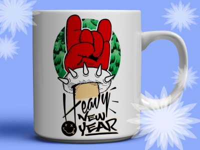 "Кружка ""Heavy New Year"""